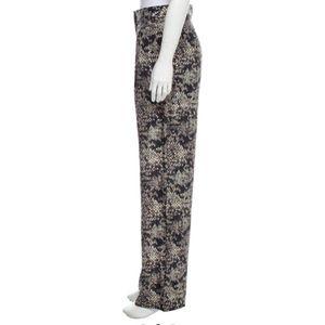 Theory Snakeskin Silk Pants